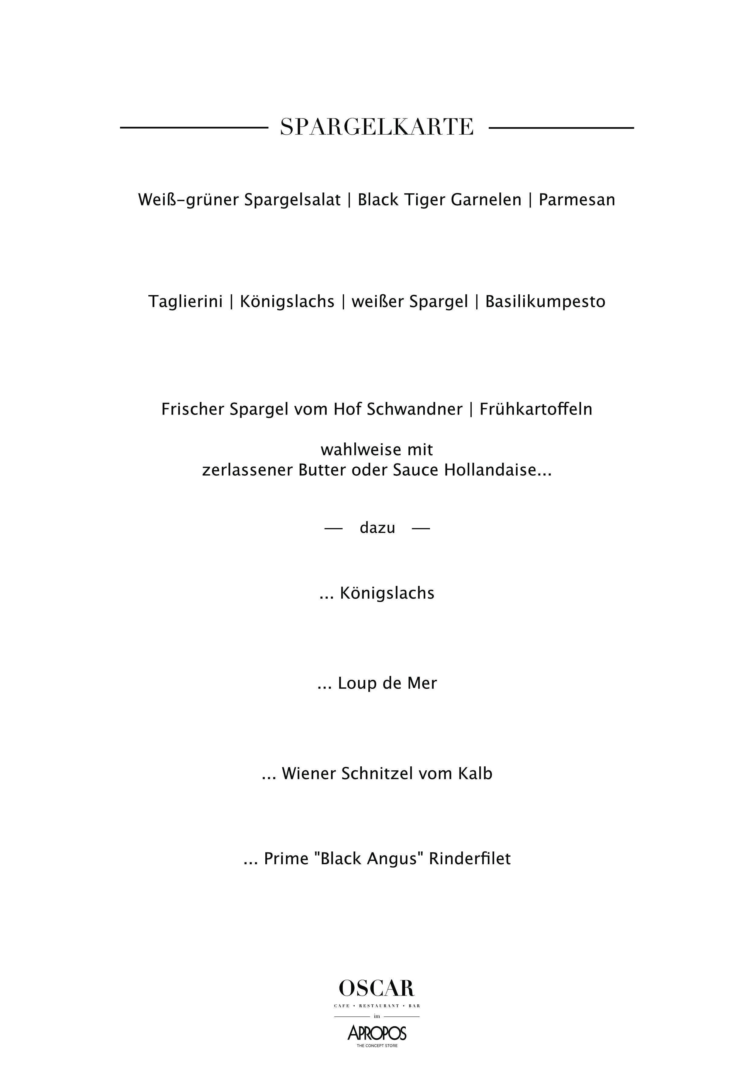 Spargelkarte Bonn weiß